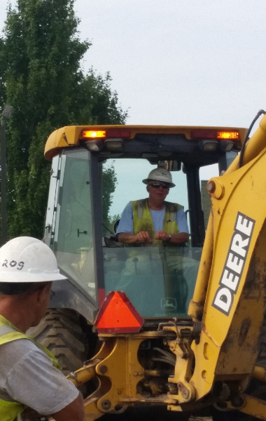 man on equipment